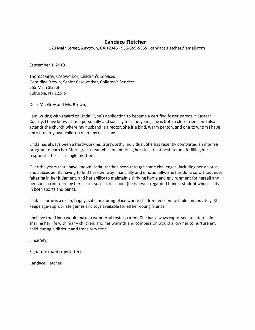 Letter Of Recommendation for Caregiver Lovely Letter Re Mendation for Special Needs Caregiver