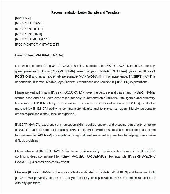 Letter Of Recommendation for Citizenship Fresh Re Mendation Letter for Graduate School
