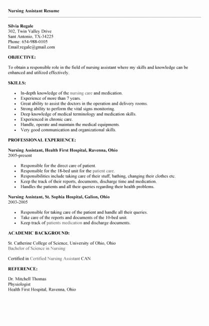 Letter Of Recommendation for Cna Inspirational Awesome Collection Cna Cover Letter Sample with No