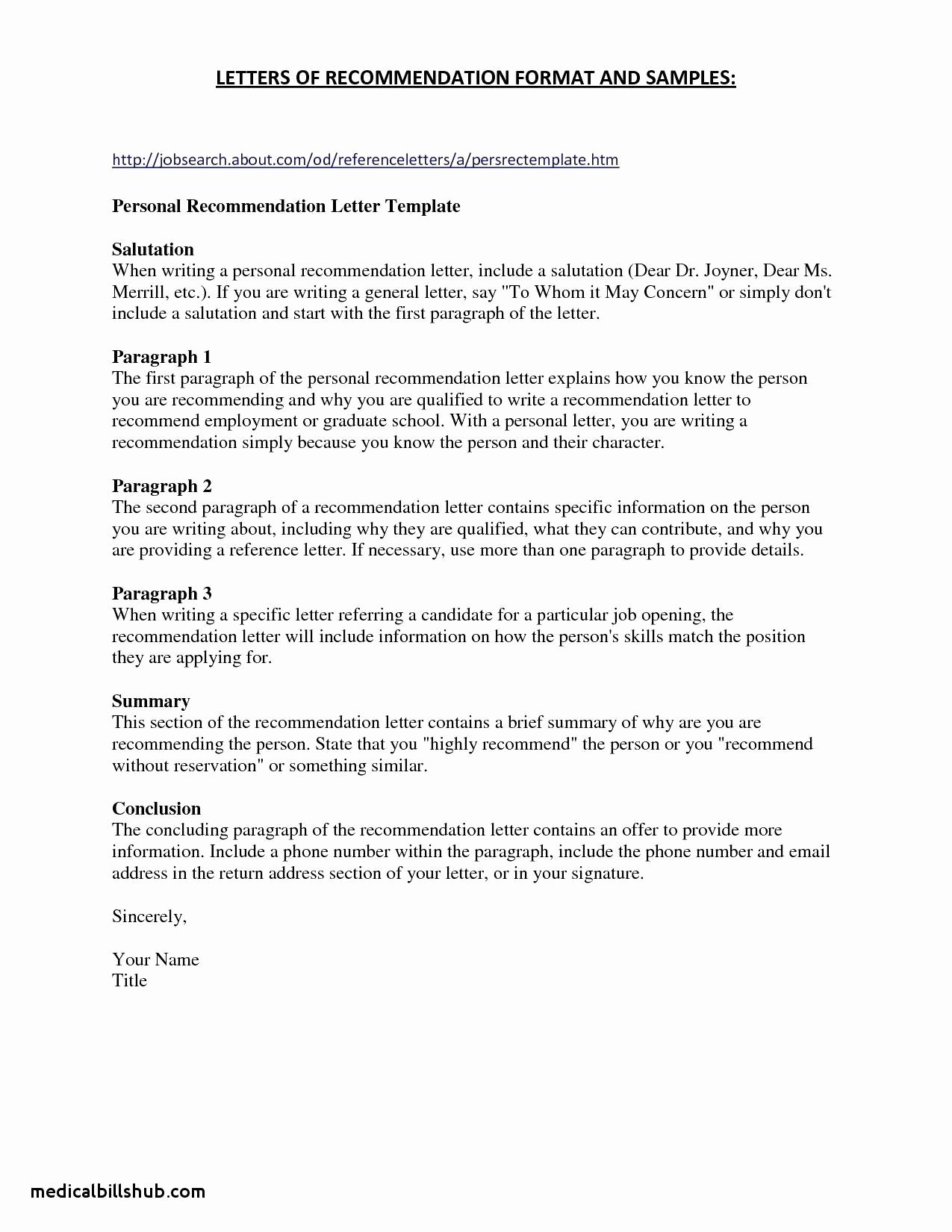 Letter Of Recommendation for Cna Inspirational New Cover Letter for Medical assistant