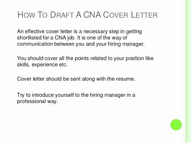 Letter Of Recommendation for Cna Lovely Cna Cover Letter Certified Nursing assistant Resume Sample