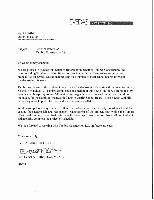 Letter Of Recommendation for Contractor Beautiful Reference Letters