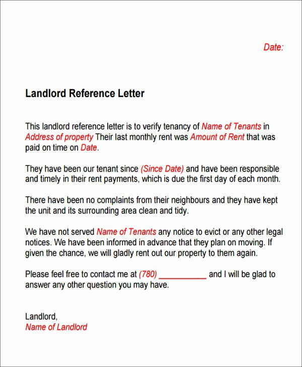 Letter Of Recommendation for Housing Beautiful 6 Sample Housing Reference Letter Samples & Templates