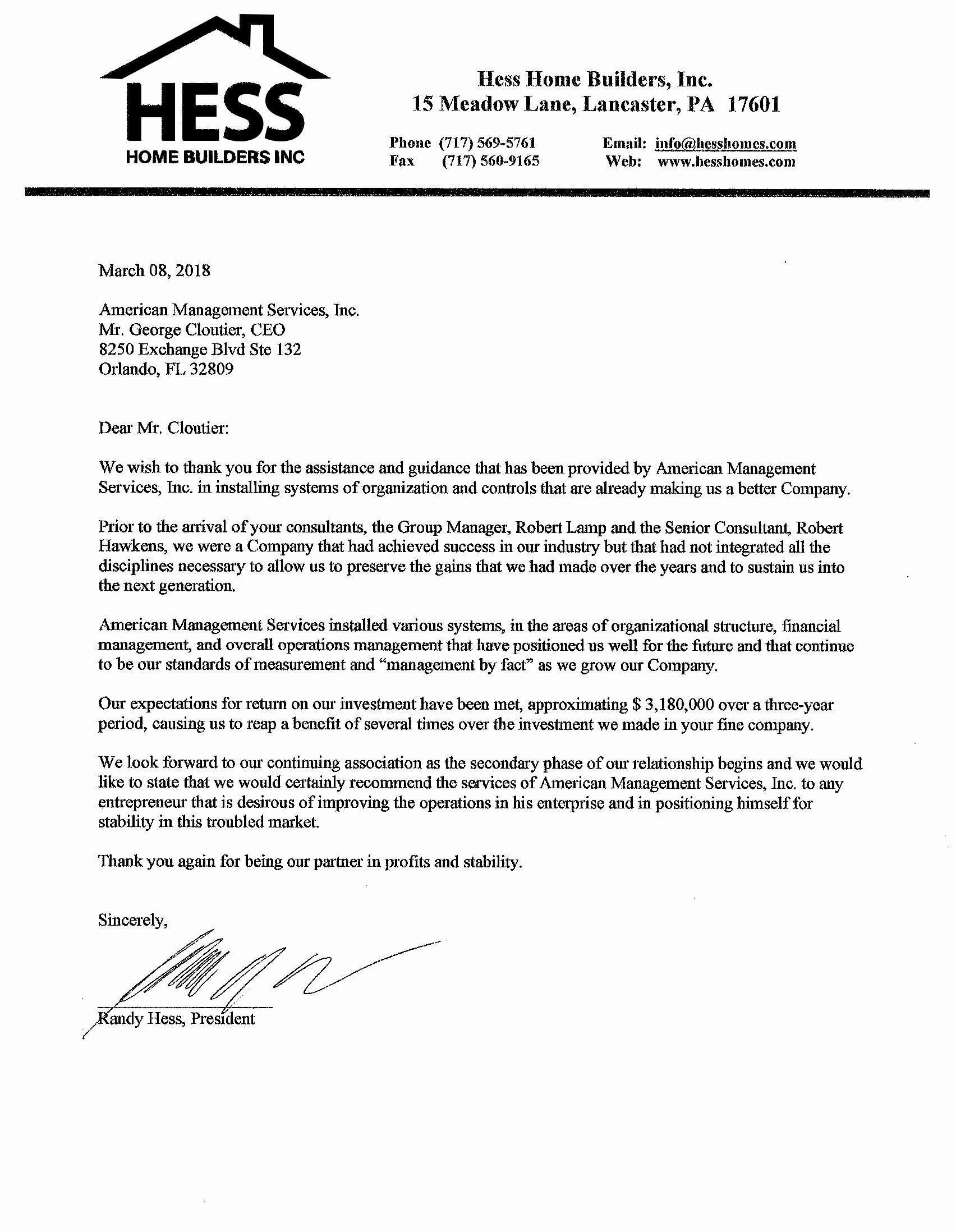 Letter Of Recommendation for Housing Luxury Hess Home Builders Reference Letter Small Business