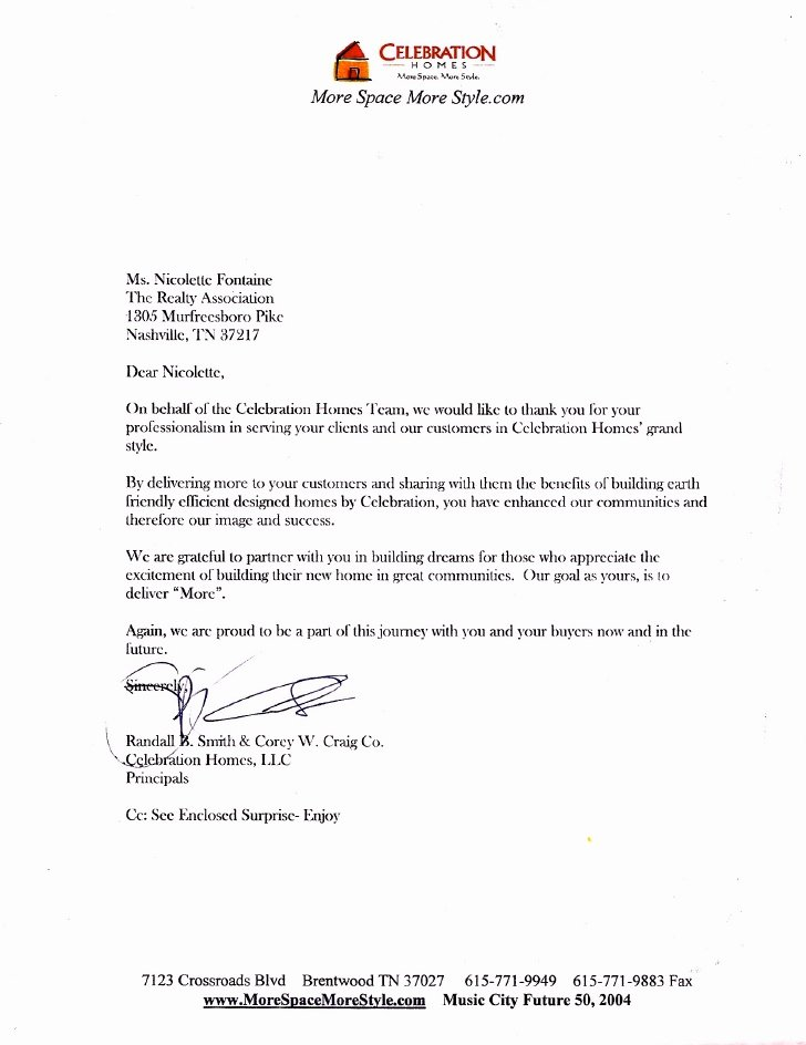Letter Of Recommendation for Housing New Letter Of Re Mendation From Celebration Homes New Home
