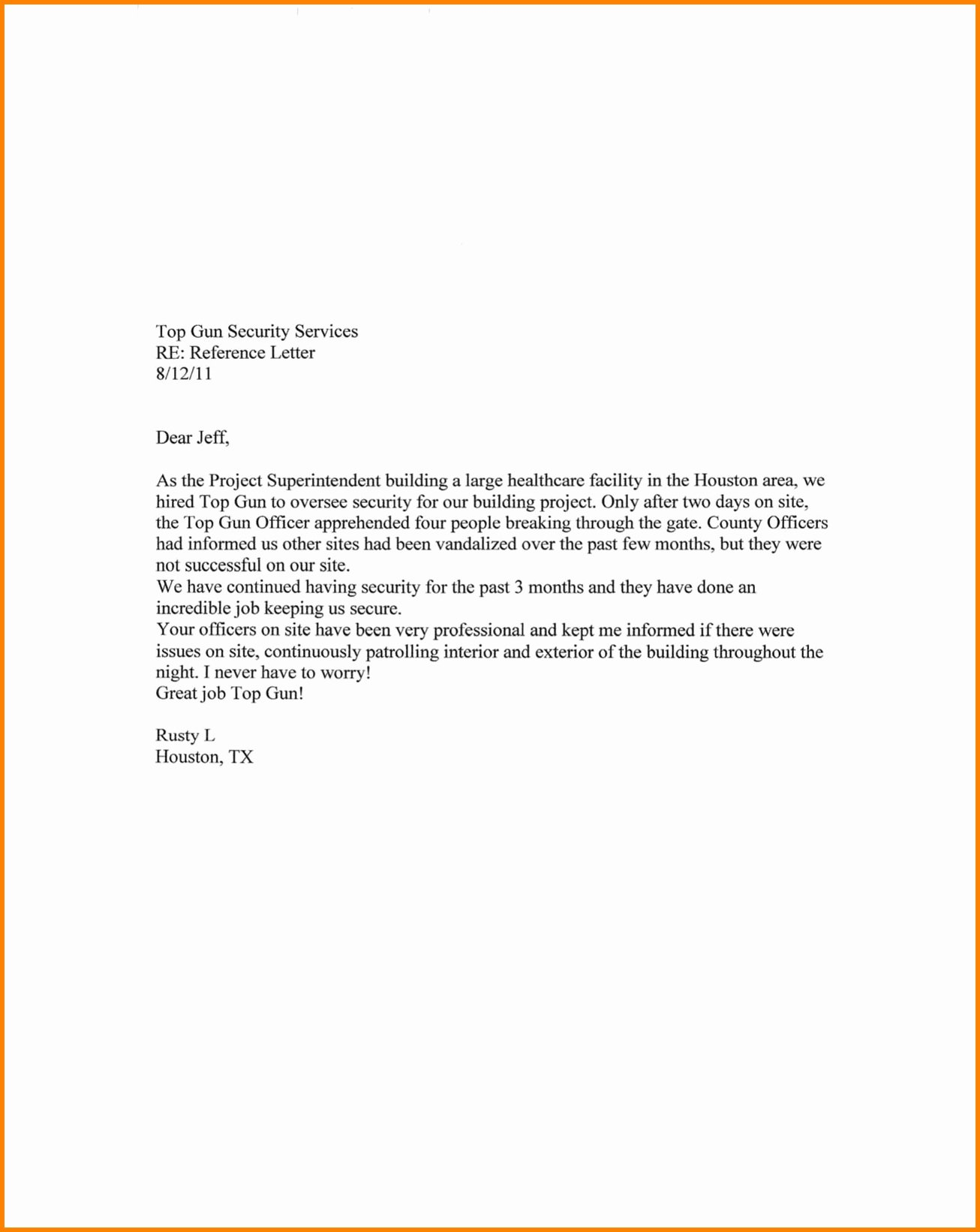 Letter Of Recommendation for Housing Unique Personal Reference Letter for Housing Best Ideas Rental