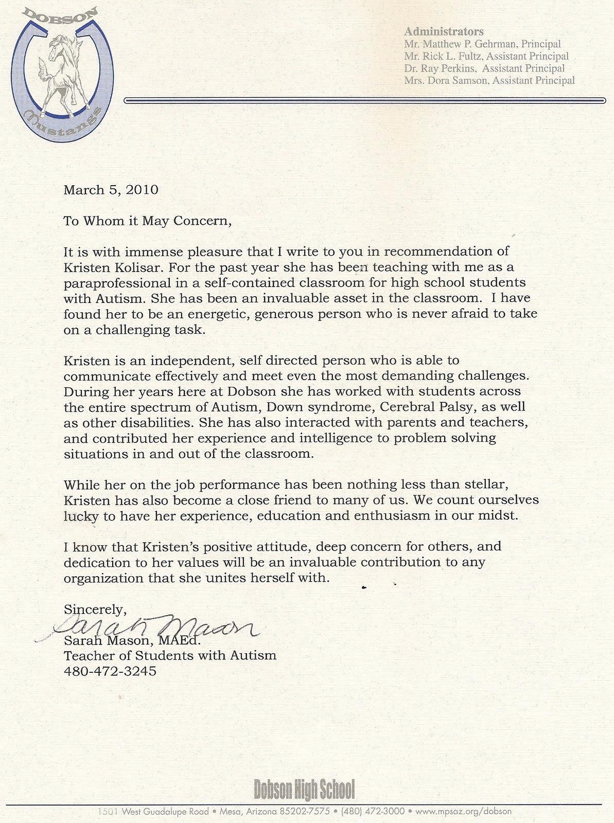 Letter Of Recommendation for Intern Unique Bis401 Internship