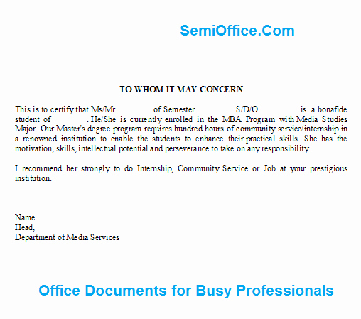 Letter Of Recommendation for Internship Luxury Letter Of Re Mendation for Job and Internship