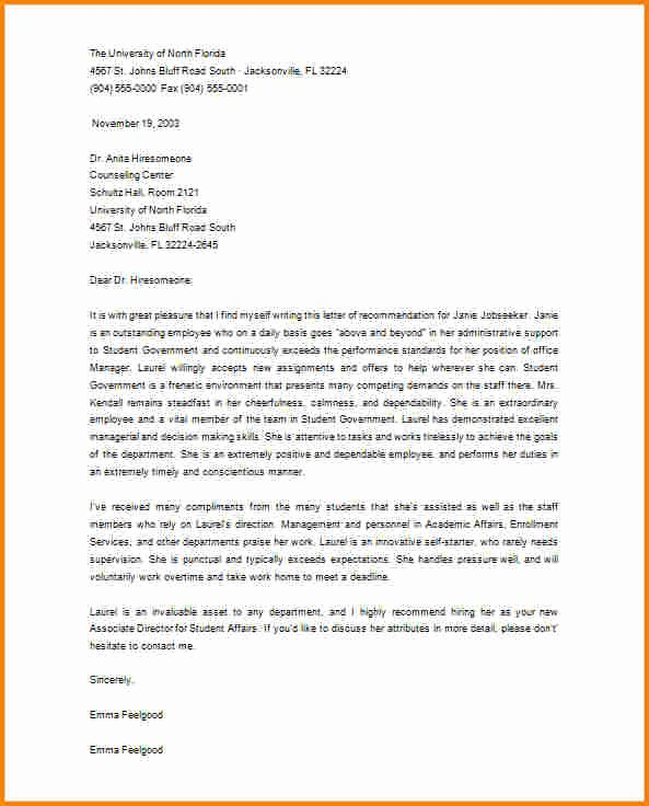 Letter Of Recommendation for Masters Awesome 5 Re Mendation Letter for Masters Degree From Employer