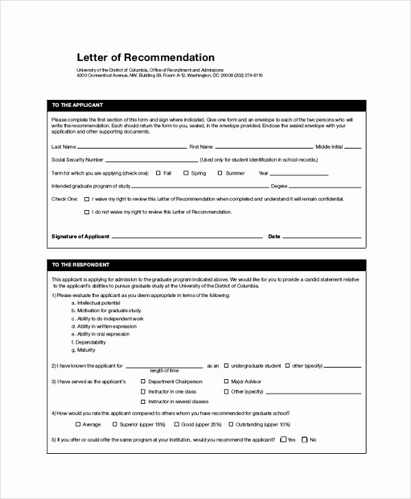 Letter Of Recommendation for Masters Beautiful 44 Sample Letters Of Re Mendation for Graduate School
