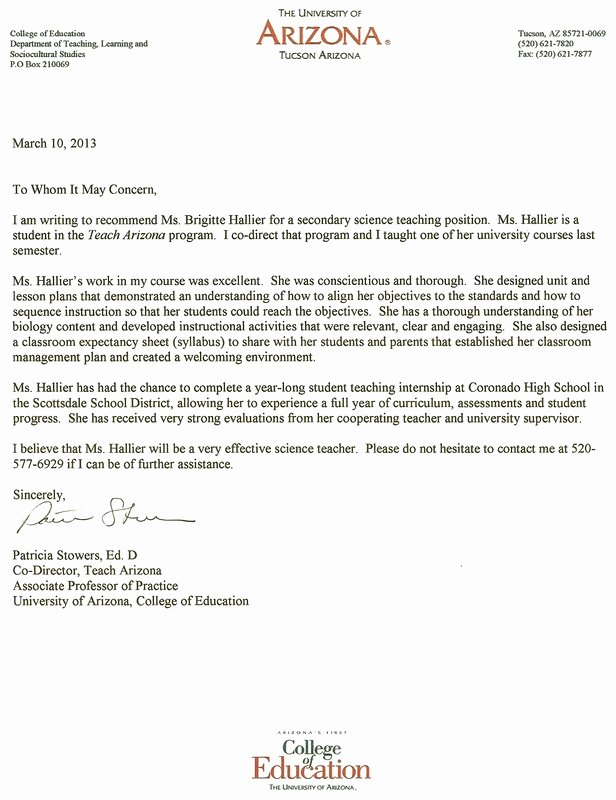 Letter Of Recommendation for Masters Lovely Letter Re Mendation for Masters Program