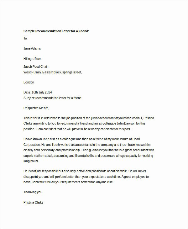 Letter Of Recommendation for Mba Awesome Examples Of Re Mendation Letter