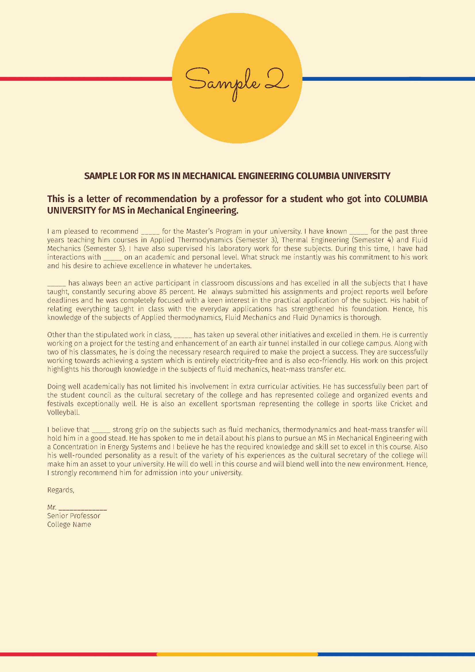 Letter Of Recommendation for Ms Unique Letter Of Re Mendation Lor Samples