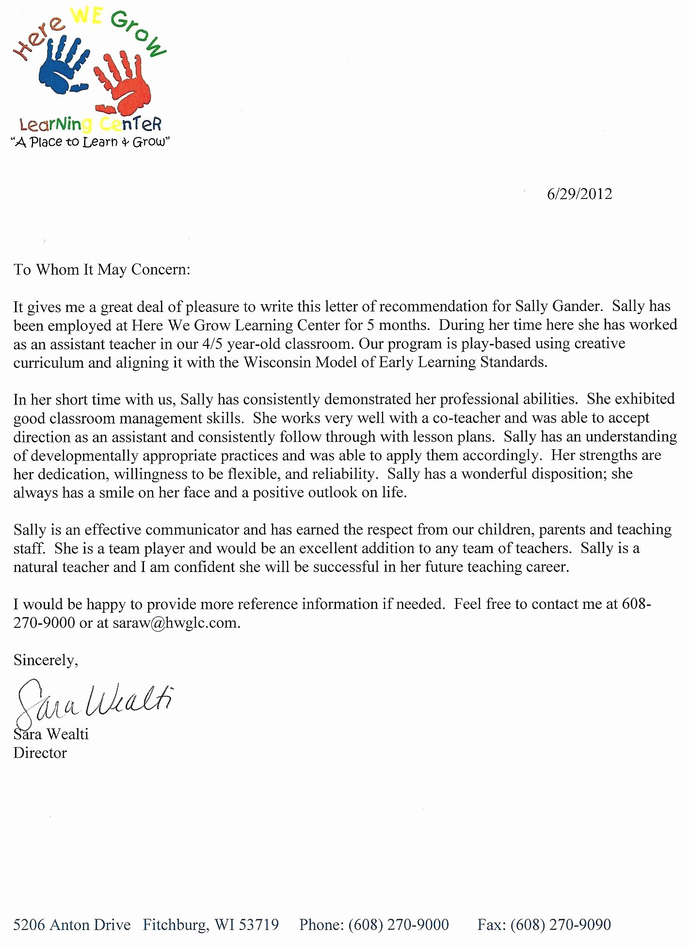 Letter Of Recommendation for Paraprofessional Awesome Letter Of Reference for A Paraprofessional