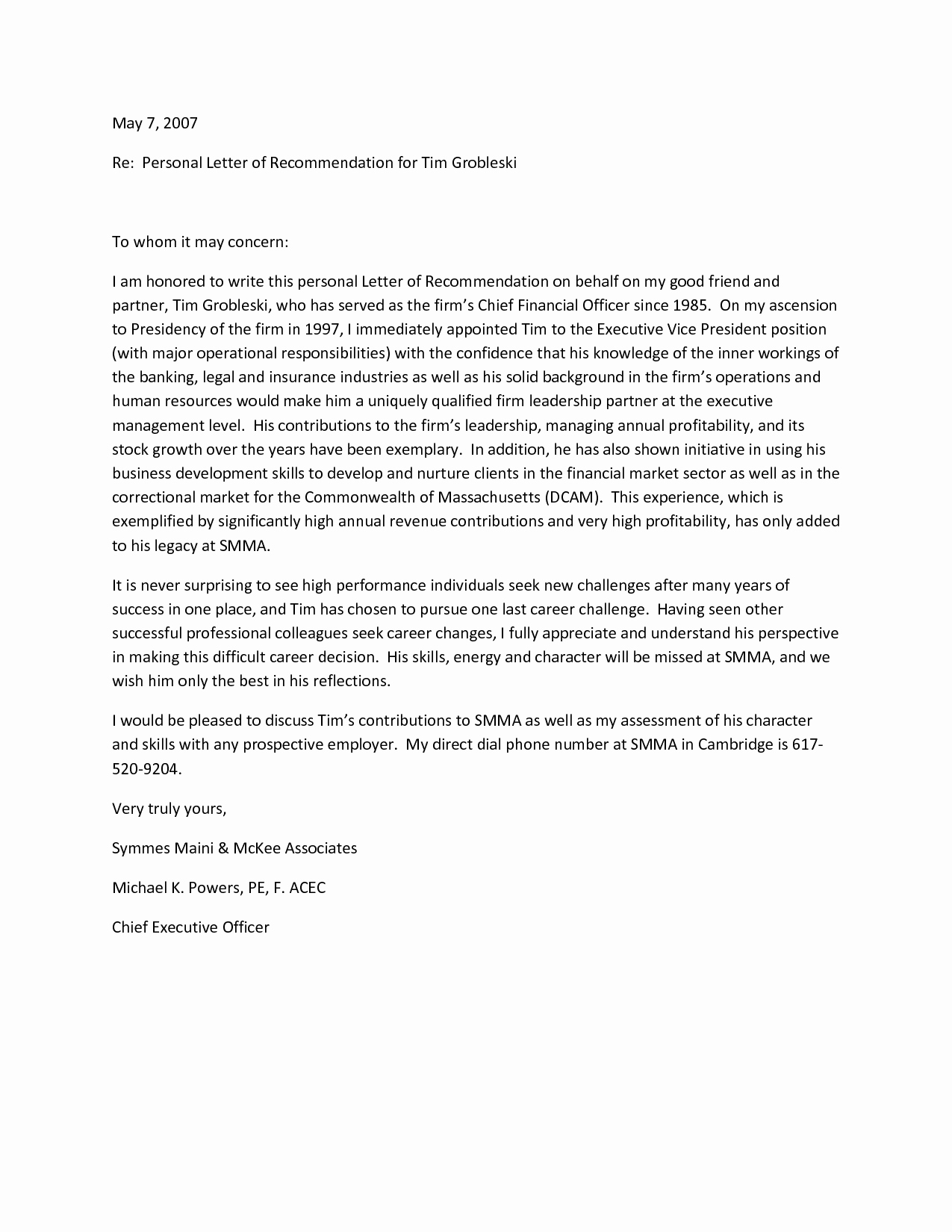 Letter Of Recommendation for Paraprofessional New Re Mendation Letter for A Friend Template