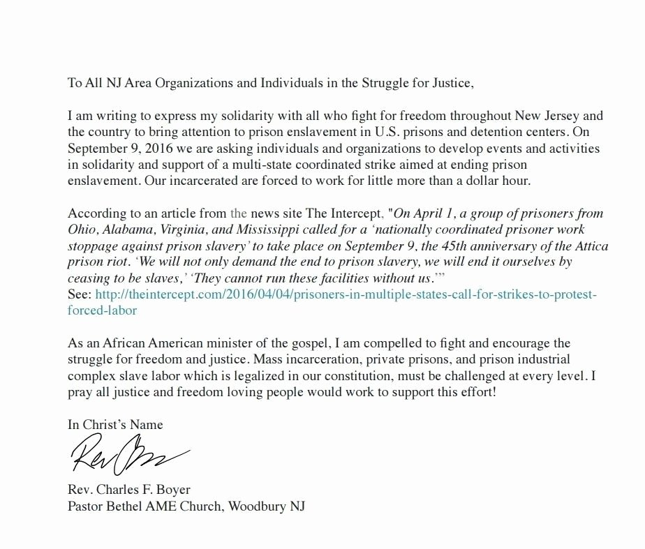 Letter Of Recommendation for Parole Awesome Sample Parole Support Letter All About Sample Letter