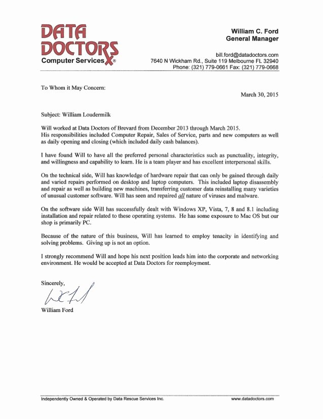 Letter Of Recommendation for Physician Fresh Data Doctors Re Mendation Letter