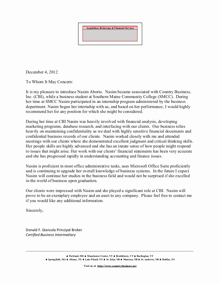 Letter Of Recommendation for Principal Awesome Letter Of Re Mendation Don Giancola Principal