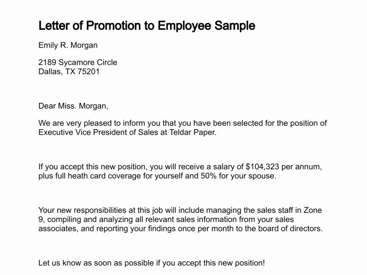 Letter Of Recommendation for Promotion Fresh 12 Promotion Re Mendation Letter Examples Pdf