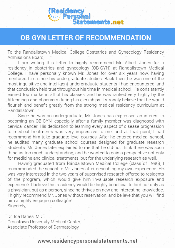 Letter Of Recommendation for Residency Elegant Tips for Ob Gyn Letter Of Re Mendation