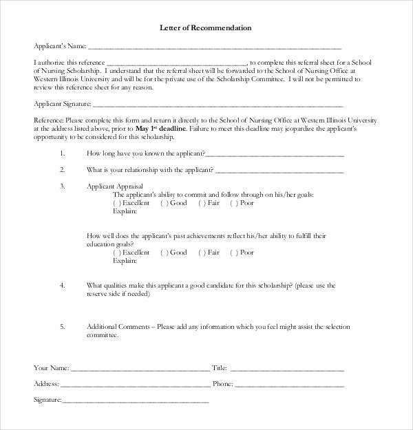 Letter Of Recommendation for Scholarships Unique 30 Sample Letters Of Re Mendation for Scholarship Pdf