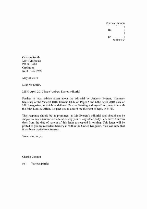 Letter Of Recommendation for Secretary Awesome Vincent H R D Owners Club Scandal Vincent Hrd Owners