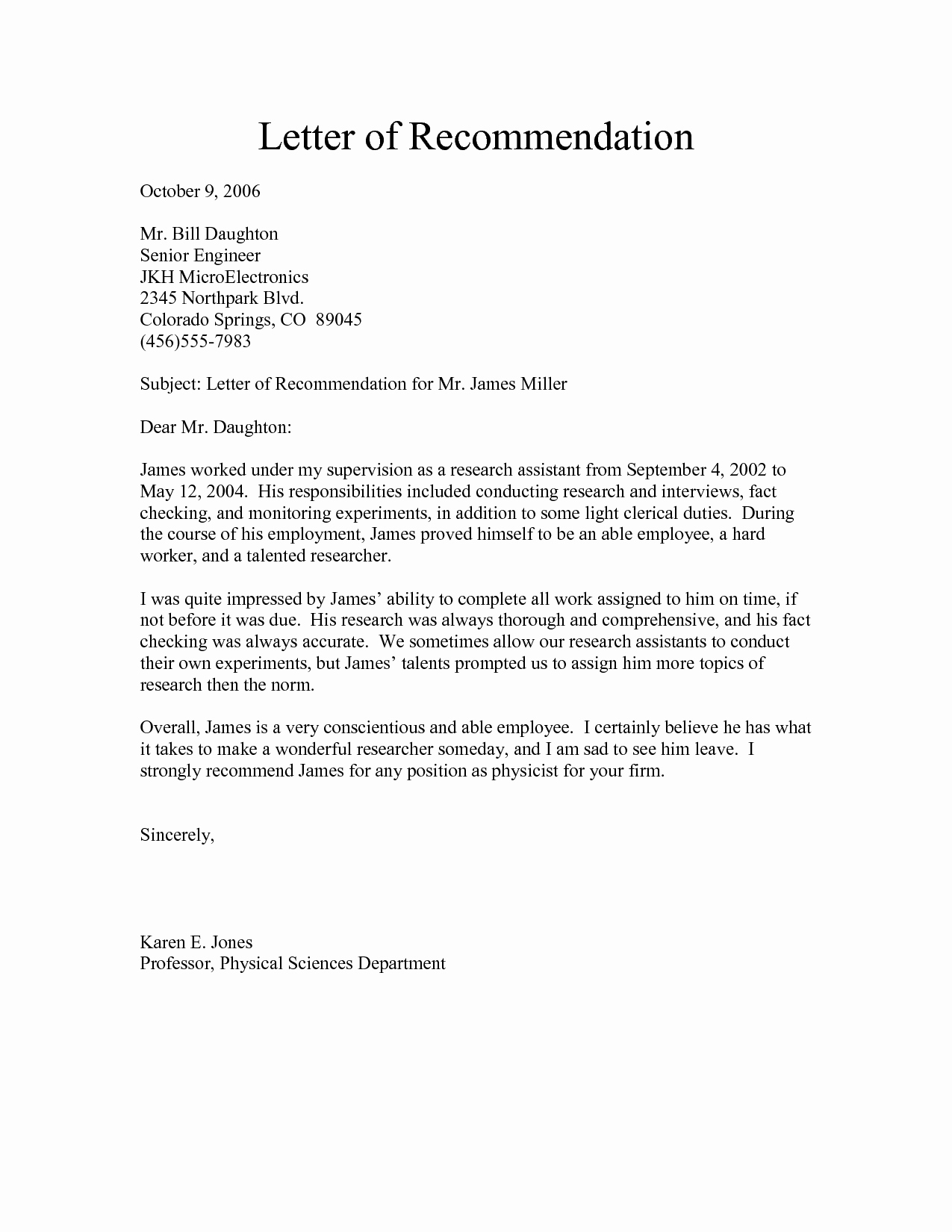 Letter Of Recommendation for Secretary Lovely Army Letter Re Mendation Exampleletter