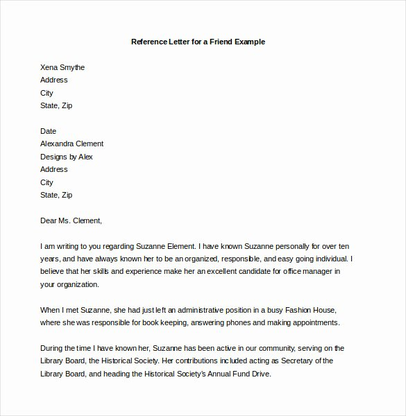 Letter Of Recommendation for Secretary New 19 Reference Letter Templates Doc Pdf