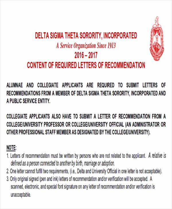 Letter Of Recommendation for sorority Awesome 6 Sample sorority Re Mendation Letters