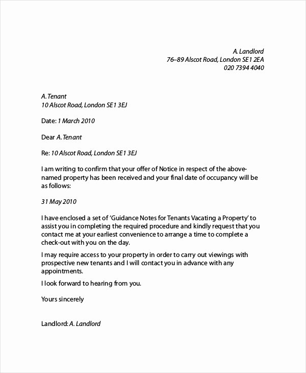 Letter Of Recommendation for Tenant Elegant 16 Landlord Reference Letter Template Free Sample