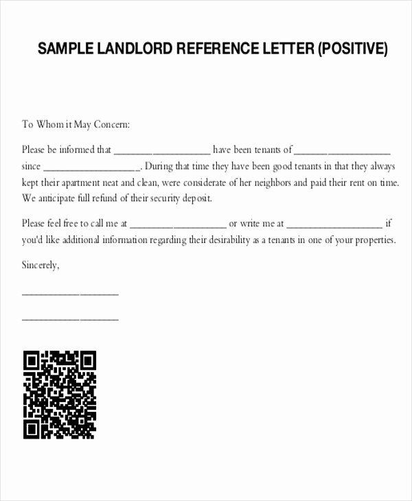 Letter Of Recommendation for Tenant Elegant 5 Sample Tenant Re Mendation Letter Free Sample