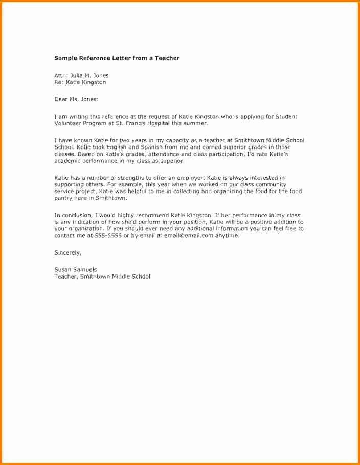 Letter Of Recommendation for Volunteer Elegant 12 Letter Of Re Mendation for A Volunteer Student
