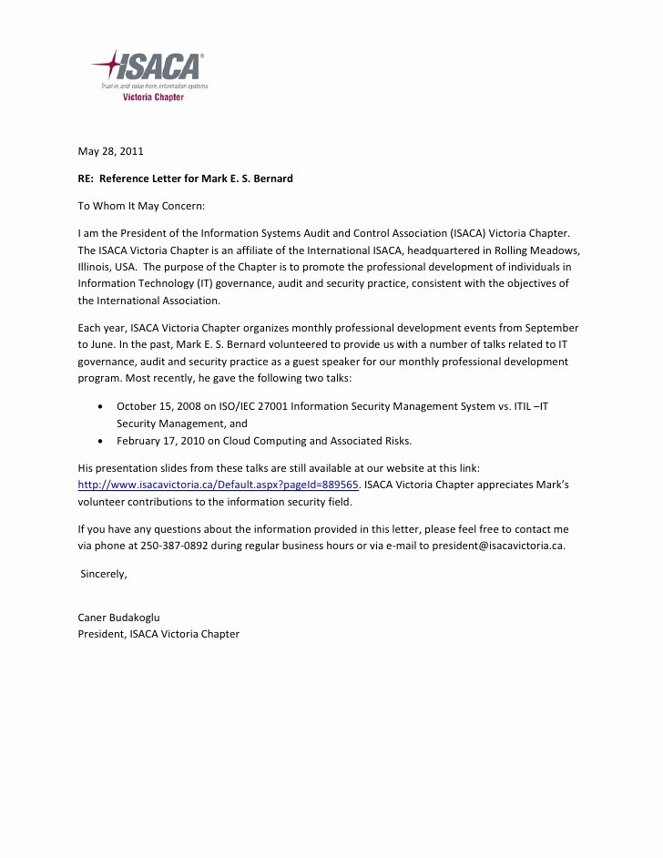 Letter Of Recommendation for Volunteers Luxury Sample Reference Letter for Volunteer Hours Oshiborifo