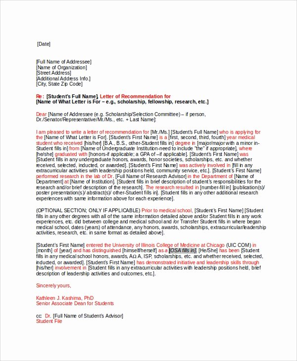 Letter Of Recommendation From Alumni Lovely 28 Letter Of Re Mendation In Word Samples