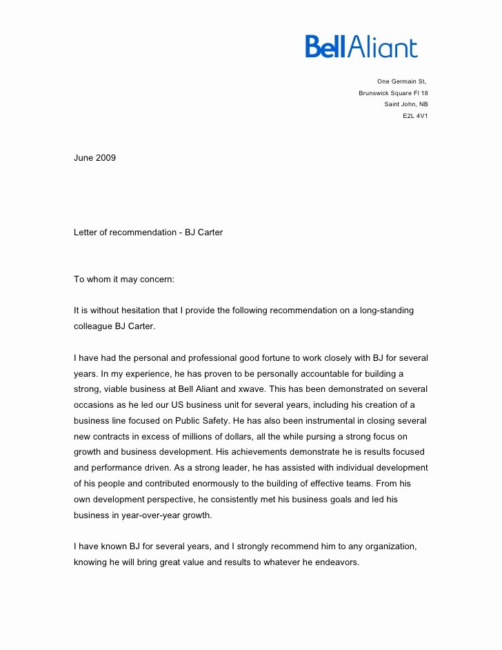 Letter Of Recommendation From Coworker Awesome Letter From Colleague Helena