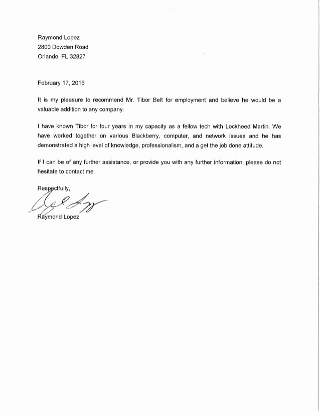 Letter Of Recommendation From Coworker Best Of Letter Of Re Mendation Coworker