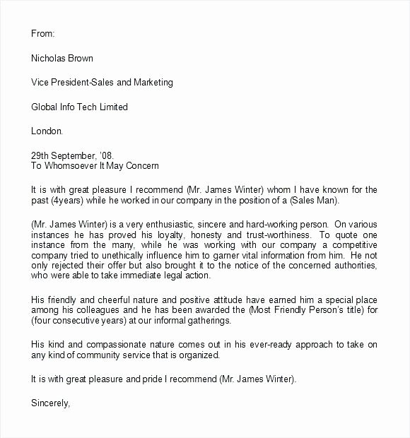 Letter Of Recommendation From Coworker Unique 15 Coworker Reference Letter Examples