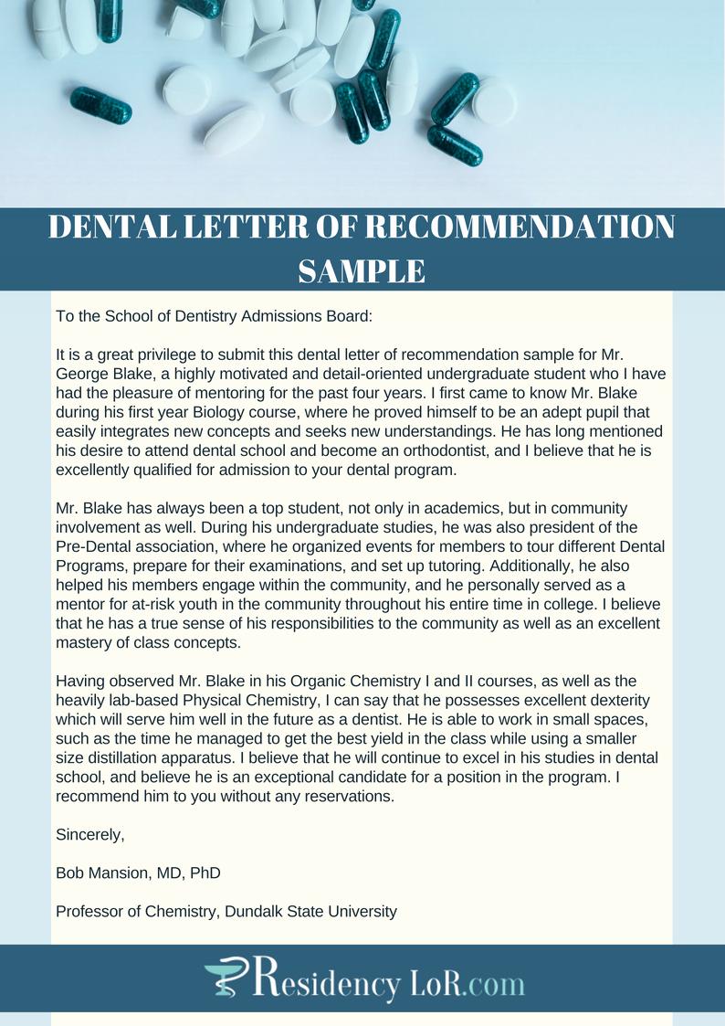 Letter Of Recommendation From Dentist Elegant Re Mendation Letter for Dentist Tips Tricks Samples