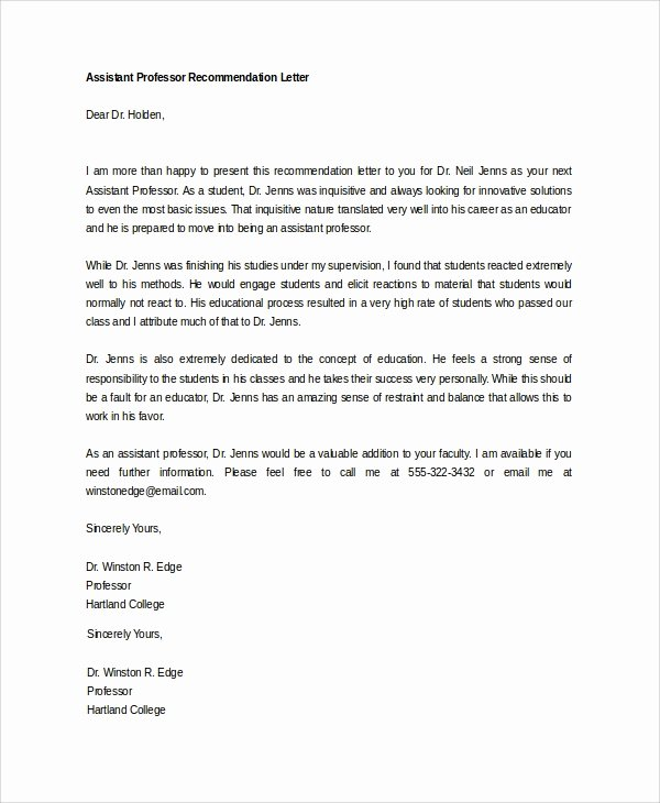 Letter Of Recommendation From Dentist Inspirational Sample Letter Of Re Mendation 20 Free Documents