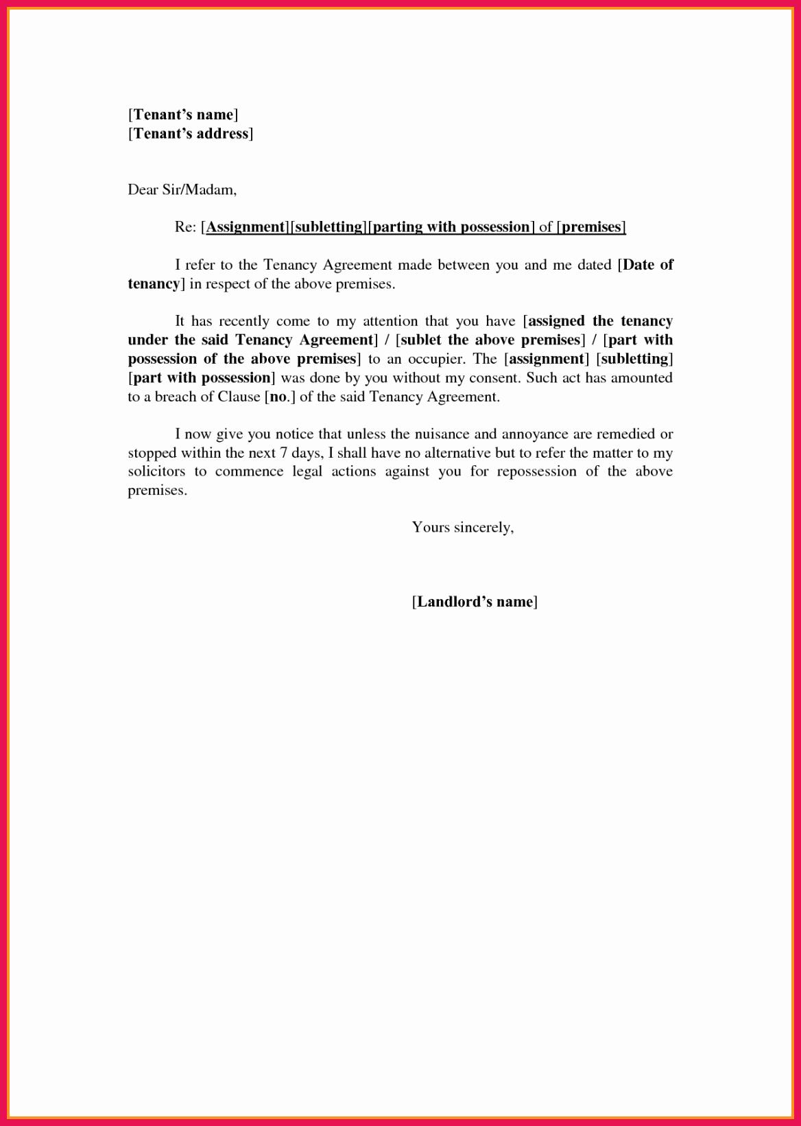 Letter Of Recommendation From Landlord Elegant Tenant Re Mendation Letter