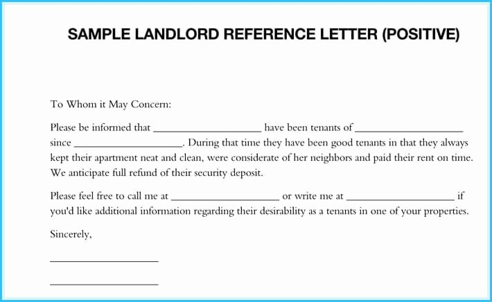 Letter Of Recommendation From Landlord Lovely 5 Sample Landlord Reference Letters What is It & How to