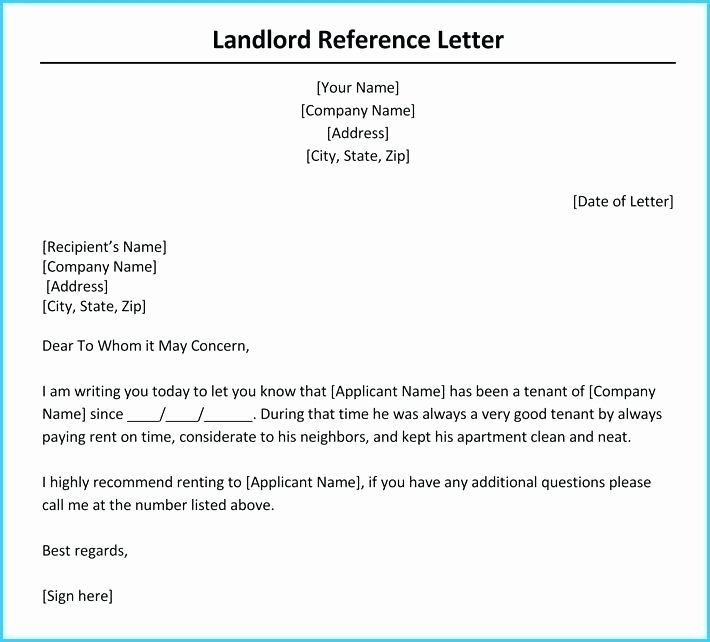 Letter Of Recommendation From Landlord Luxury Letter From Employer to Landlord – Rightarrow Template
