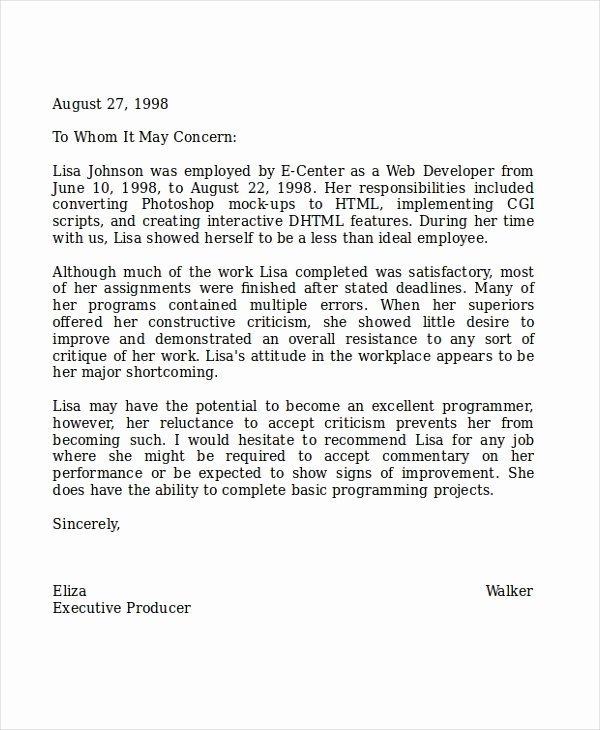 Letter Of Recommendation From Teacher Unique 8 Reference Letter for Teacher Templates Free Sample