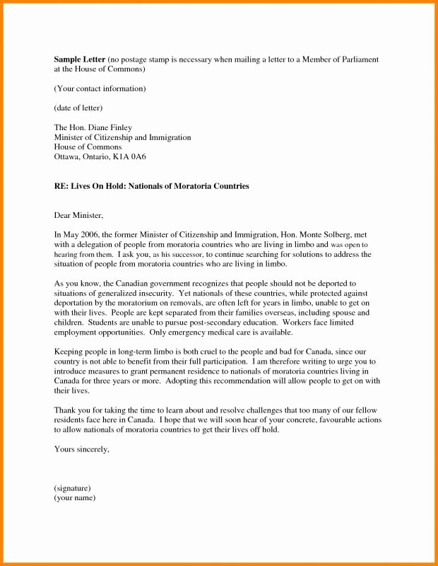 Letter Of Recommendation Immigration Inspirational Letter Re Mendation for Immigration