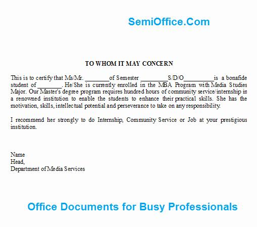 Letter Of Recommendation Internship Best Of Letter Of Re Mendation for Job and Internship