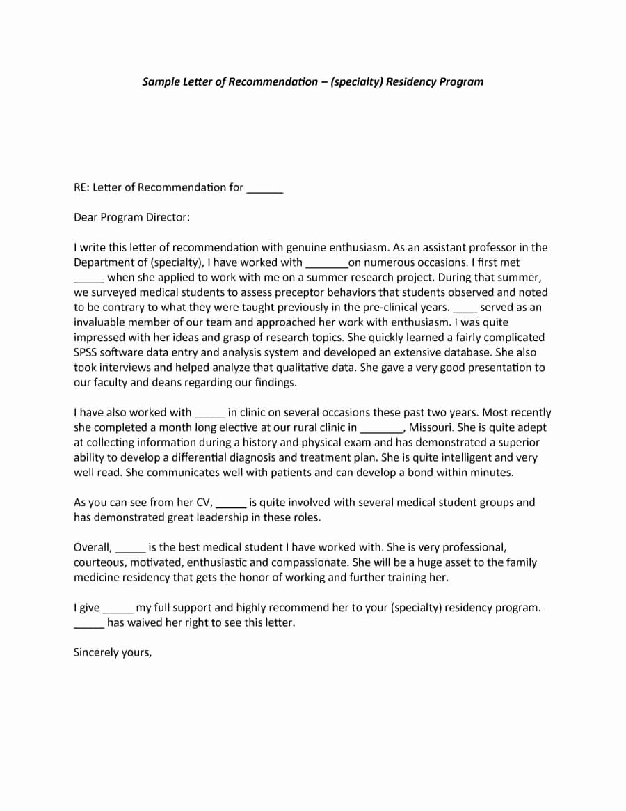 Letter Of Recommendation Letterhead Unique 43 Free Letter Of Re Mendation Templates & Samples