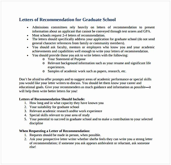 Letter Of Recommendation Masters Program Luxury Sample Letter Of Re Mendation for Graduate School From