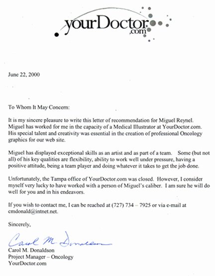 Letter Of Recommendation Masters Program Luxury Yourdoctor Re Mendation Letter June 22th 2000