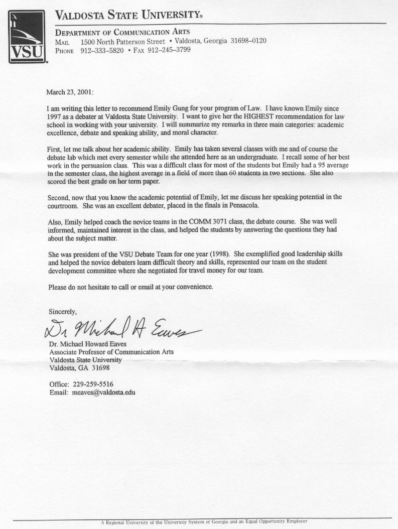 Letter Of Recommendation Masters Program Unique Letters Re Mendation for Graduate School Professional