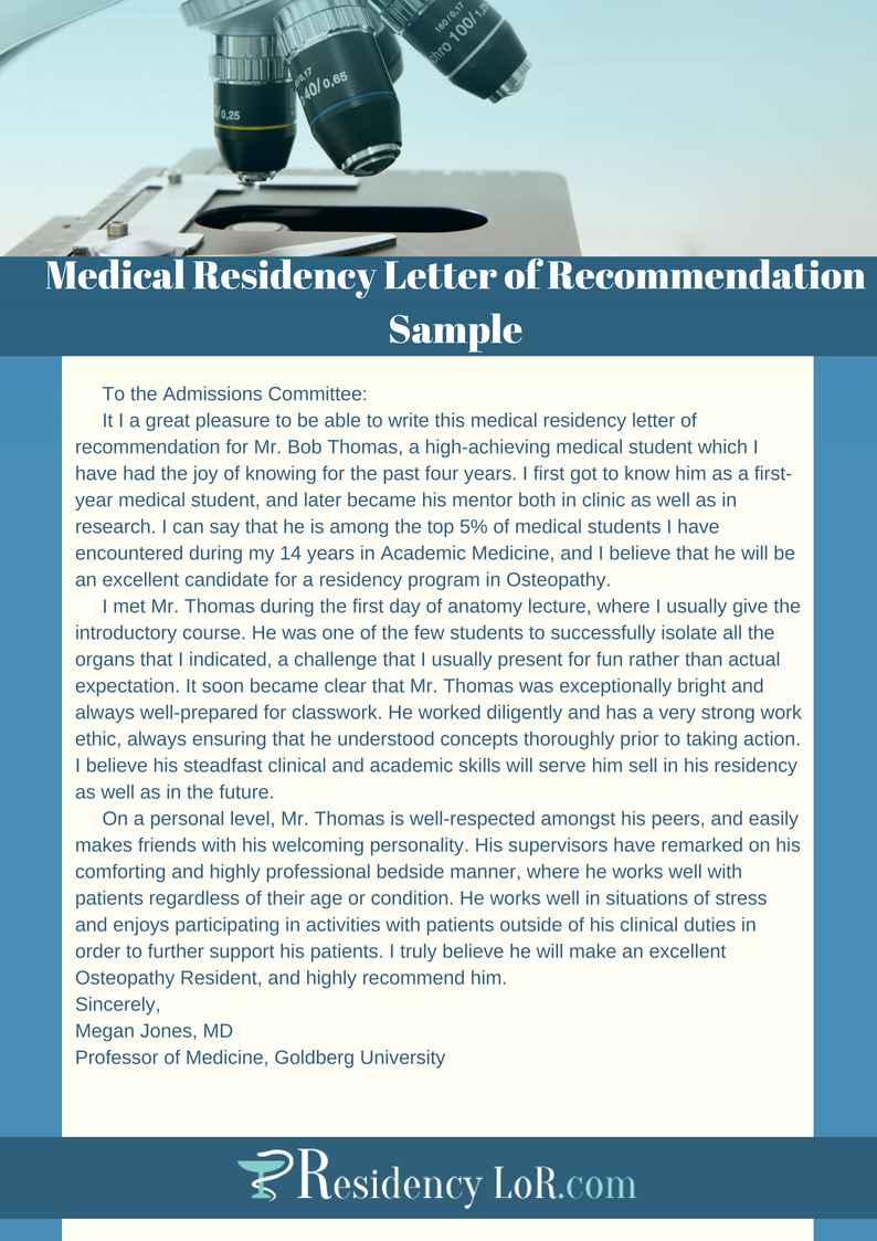 Letter Of Recommendation Medical Residency Awesome A Residency Letter Of Re Mendation